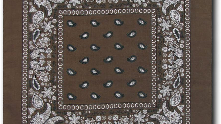 Kaiser Collection Double Sided Paisley Bandanas-DARK BROWN