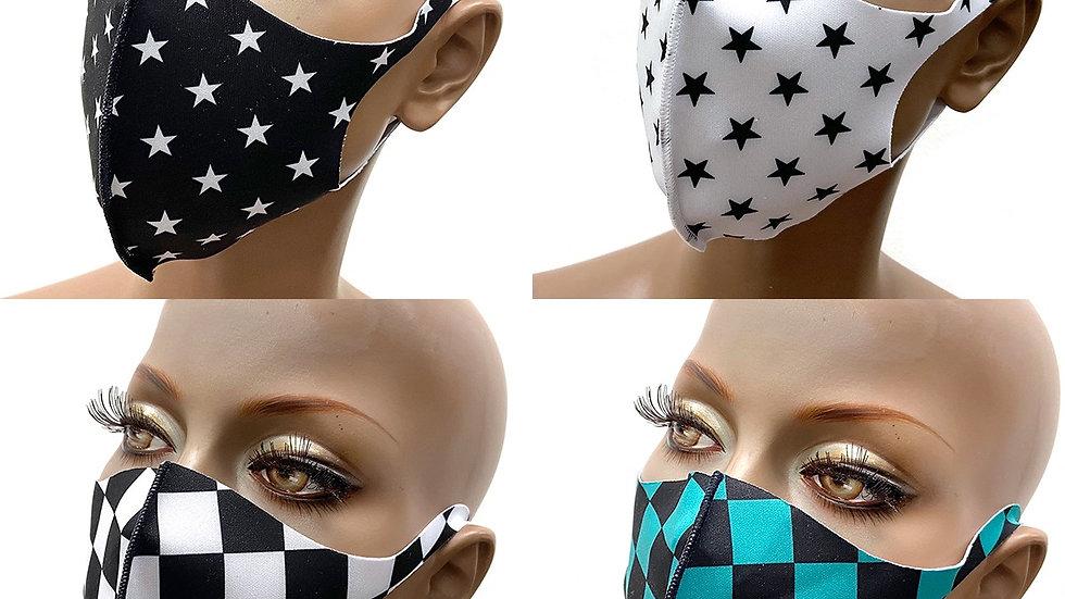 2-pcs Designed Face Masks Washable Reusable made in Korea