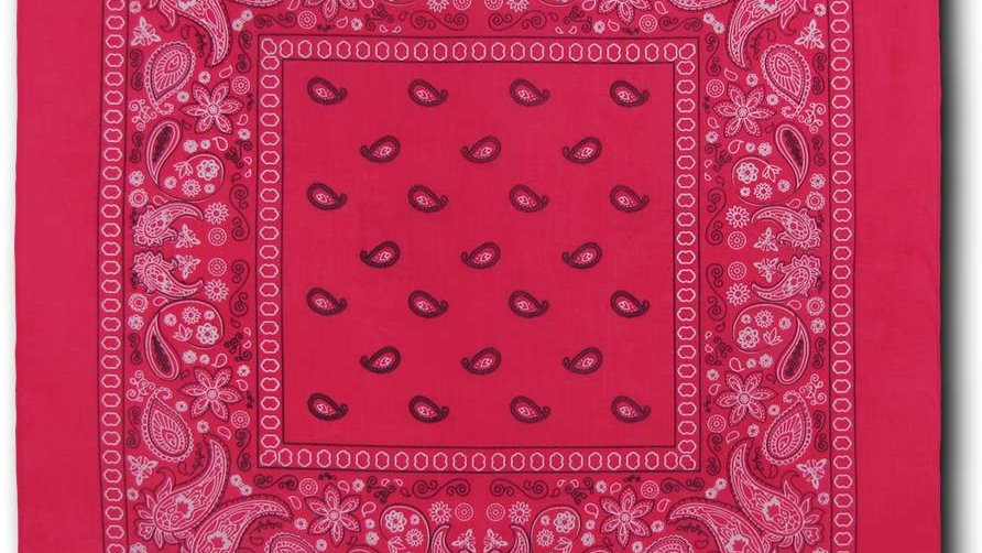 Kaiser Collection Double Sided Paisley Bandanas-HOT PINK