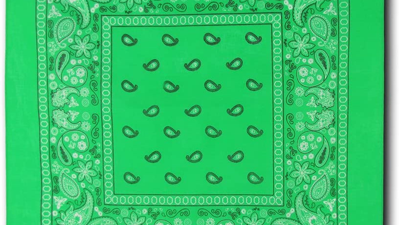 Kaiser Collection Double Sided Paisley Bandanas-LIME
