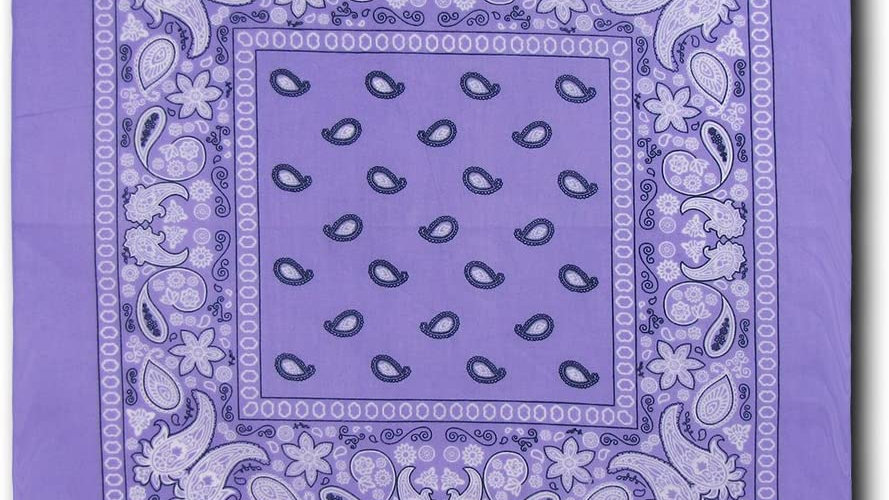 Kaiser Collection Double Sided Paisley Bandanas-LAVENDER