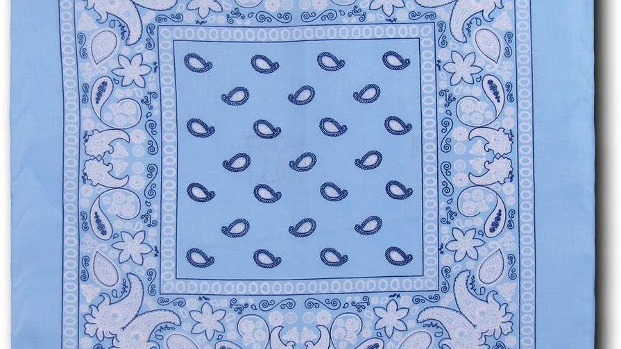 Kaiser Collection Double Sided Paisley Bandanas-SKY BLUE