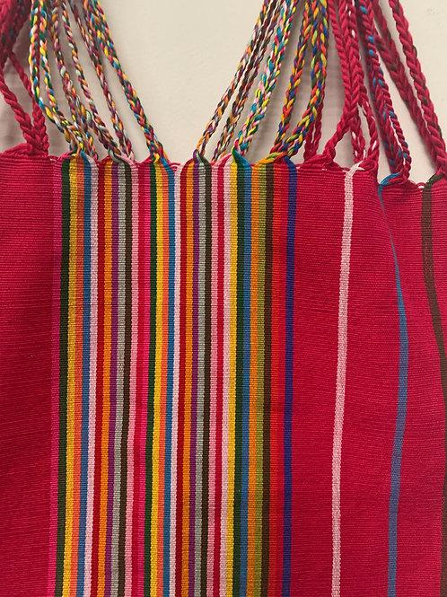 Handwoven Cotton Bag- pink multicolor