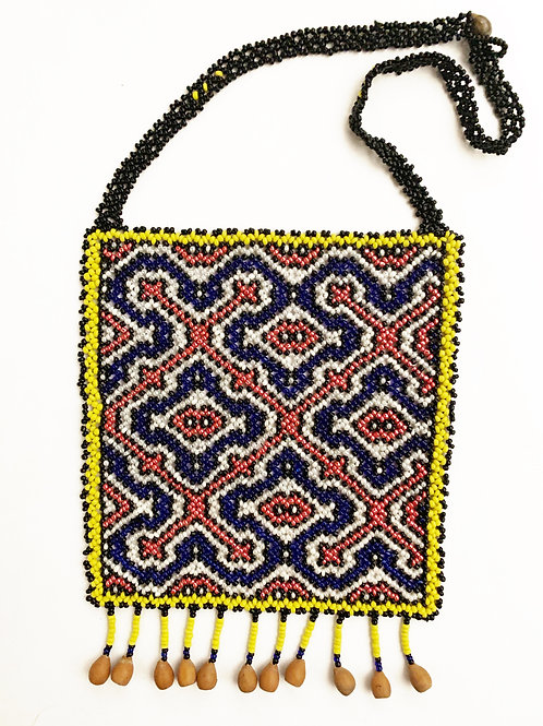 Ceremonial necklace, hand beaded