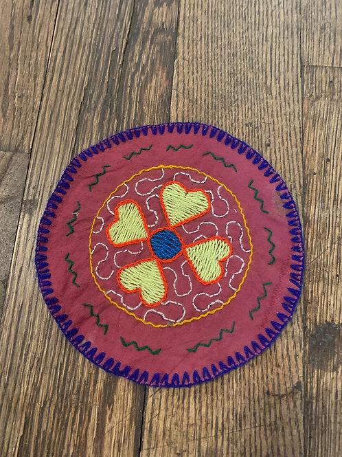 small round Shipibo Tapestry