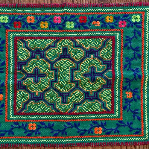 Shipibo Tapestry - small green ikaro