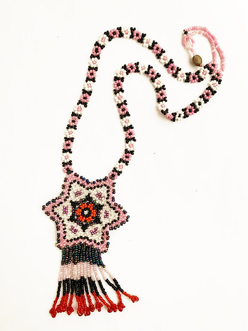 handmade beaded star necklace