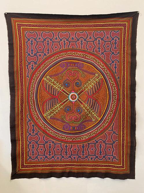 Hand dyed Shipibo Wall Tapestry- Noya Rao