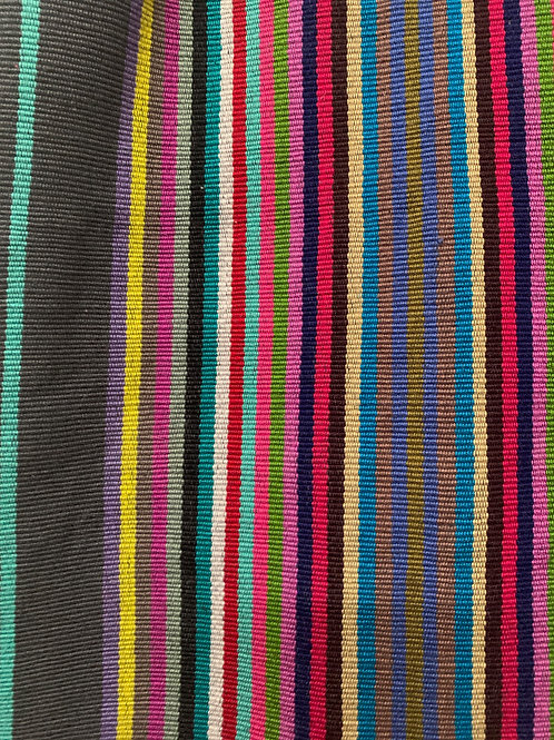 Handwoven cotton bag- multicolor with charcoal