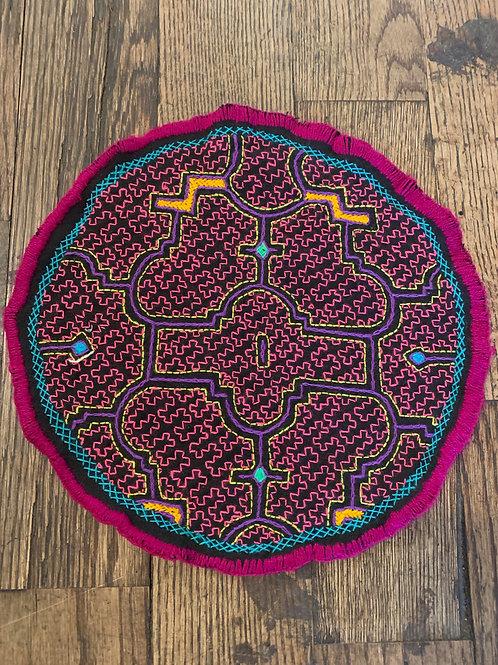 Round Shipibo Tapestry