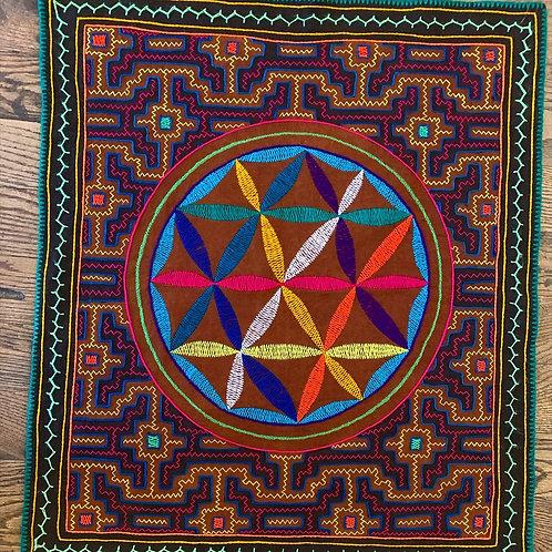 Shipibo Tapestry - Flower of Life