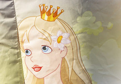 Hüpfburg Prinzessin rosa