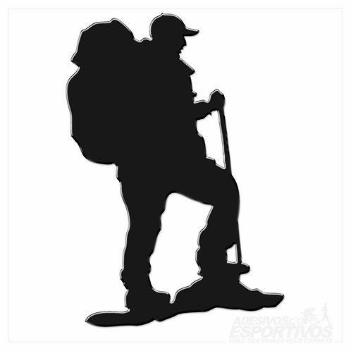 Adesivo Emblema Resinado 3D Trekking / Caminhada / Trilha
