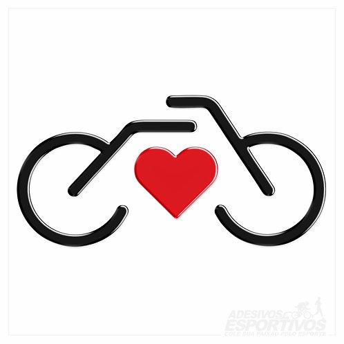 Adesivo Emblema Eu Amo Bike Retrô