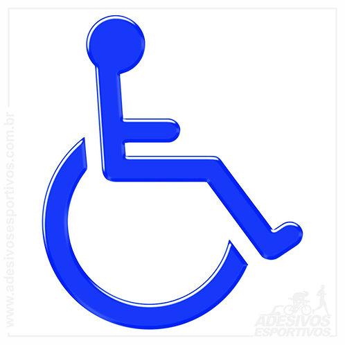 Adesivo Emblema Acessibilidade Deficiência Física