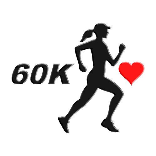 Adesivo Emblema Corredora Ultra Maratona 60K