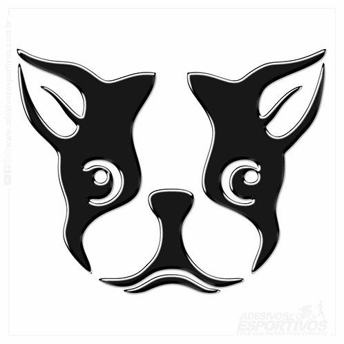 Adesivo Emblema PET Cachorro Pug Resinado 3d