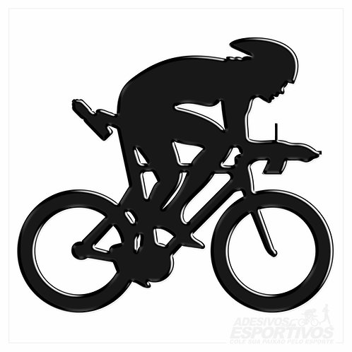 Adesivo Emblema Bike Speed Contra Relógio - Feminino