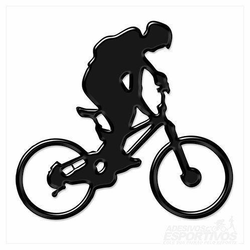 Adesivo Emblema Andando de Bike MTB