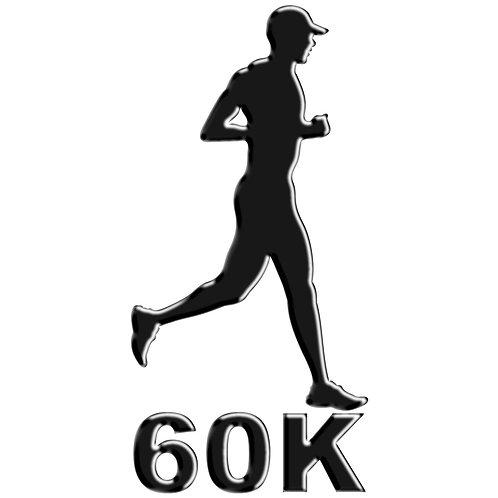 Adesivo Emblema Corredor Ultra Maratona 60K