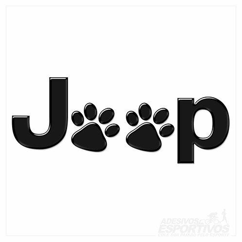 Adesivo Emblema Jeep Patinhas Pet Offroad