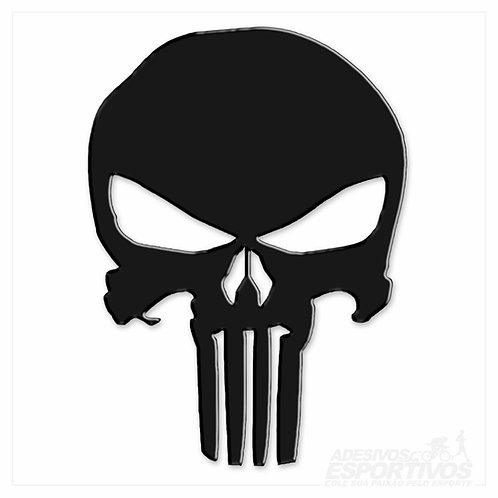 Adesivo Emblema Fantasma Punisher Skull