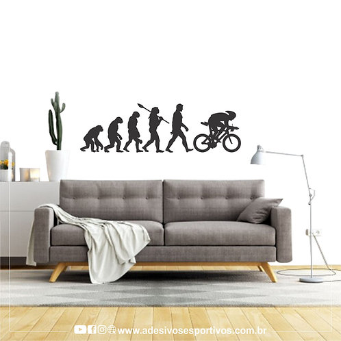 Adesivo Recorte Esportivo de Parede Evolução da Bike - Masculino