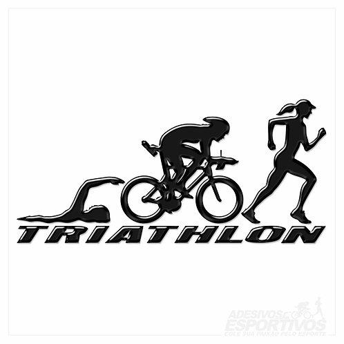 Adesivo Emblema Triathlon - Feminino