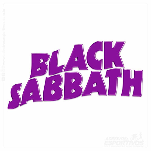 Adesivo Emblema Black Sabbath Master Of Reality Resinado 3D