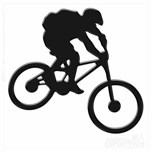 Adesivo Emblema Bike MTB Downhill Resinado 3d