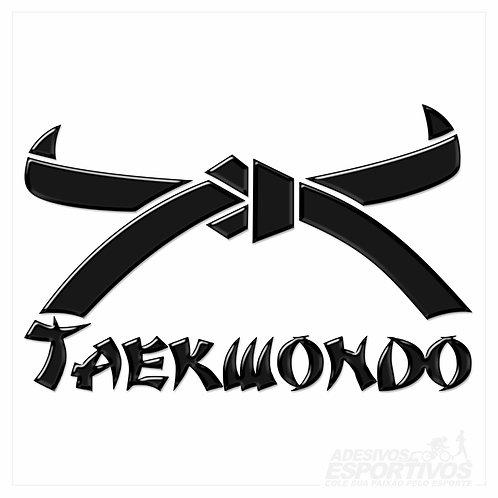 Adesivo Emblema Artes Marciais Faixa Taekwondo