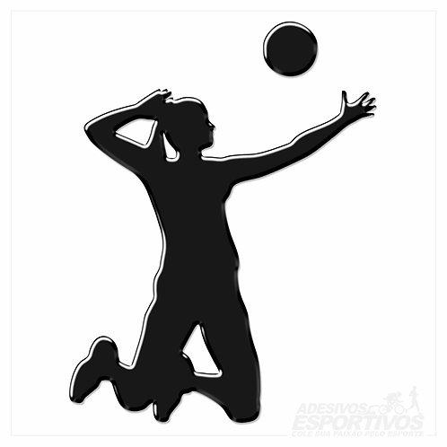 Adesivo Emblema Voleibol - Feminino