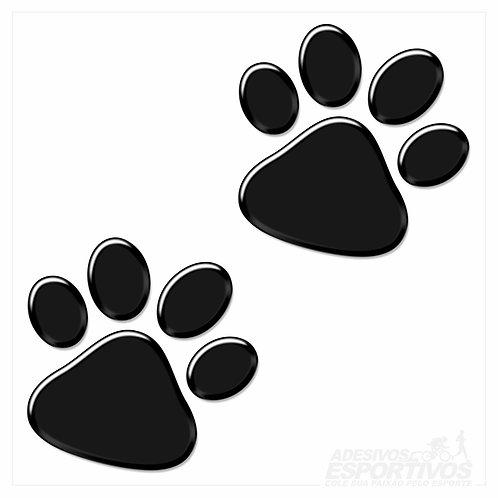 Adesivo Emblema Patinhas PET - Médio