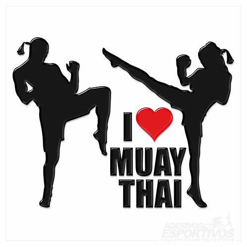 Adesivo Emblema Casal Muay Thai