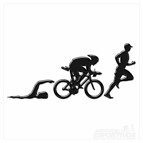Adesivo Emblema Triathlon - Masculino