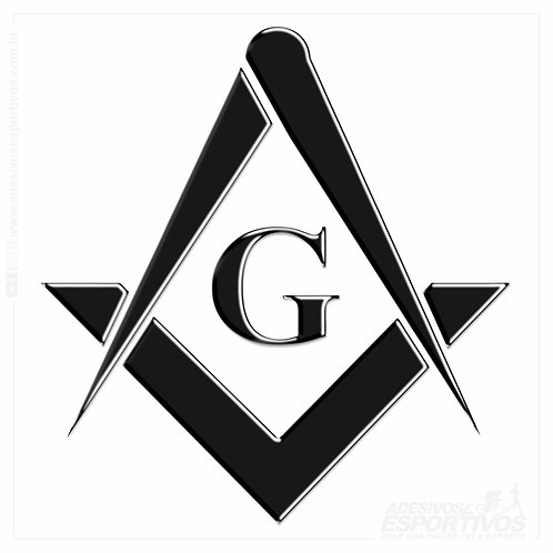Adesivo Emblema Maçonaria Esquadro Comprasso