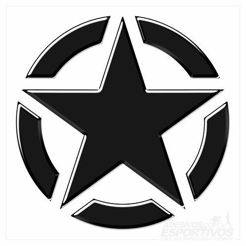 Adesivo Emblema Jeep Estrela Americana US Army