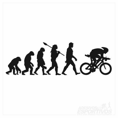 Adesivo Emblema Evolução da Bike