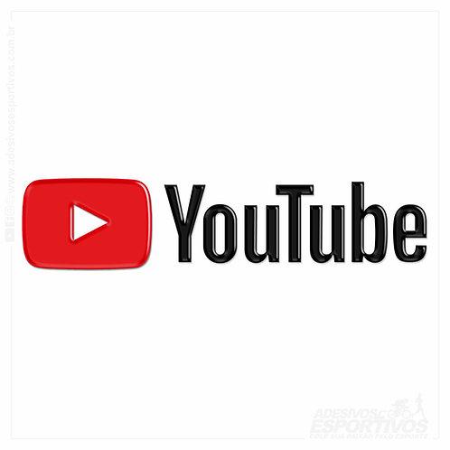 Adesivo Emblema Canal Youtube