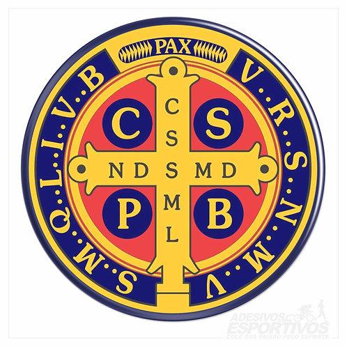 Adesivo Emblema Cruz de São Bento