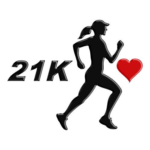 Adesivo Emblema Corredora Eu Amo Meia Maratona