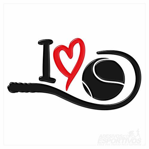 Adesivo Emblema Eu Amo Beach Tennis