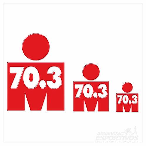 Adesivo Emblema - IRONMAN 70.3