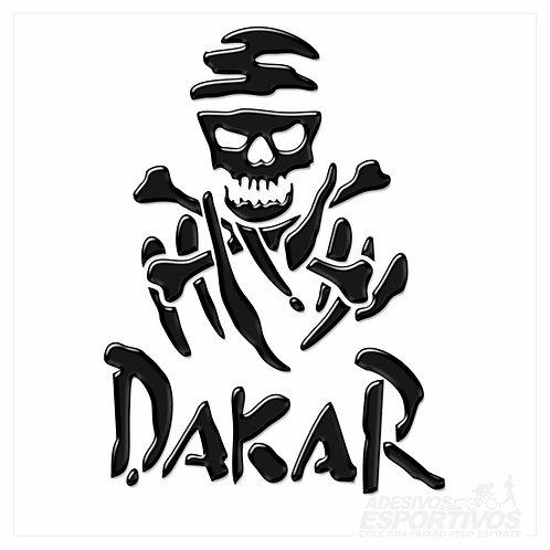 Adesivo Emblema Paris Dakar Caveira Resinado 3D