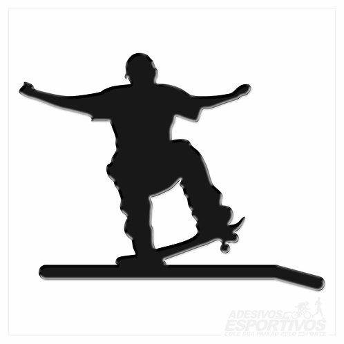 Adesivo Emblema Skate Crooked