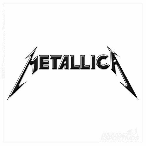 Adesivo Emblema Logo Metallica Resinado 3D