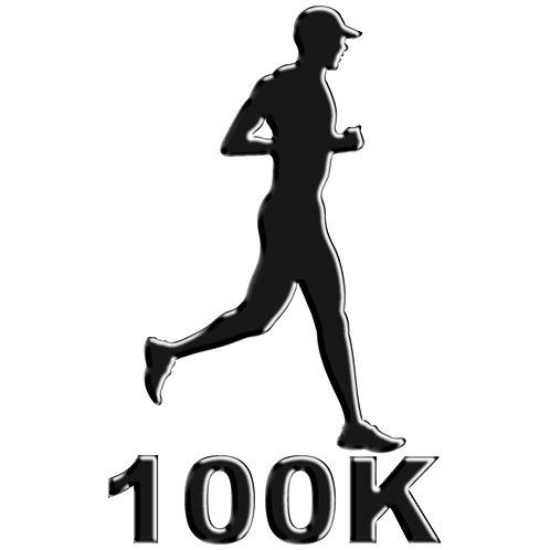 Adesivo Emblema Corredor Ultra Maratona 100K