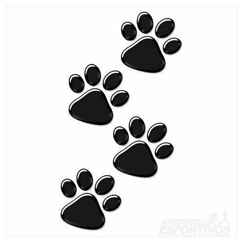 Adesivo Emblema Patinhas PET Para Capa de Celular