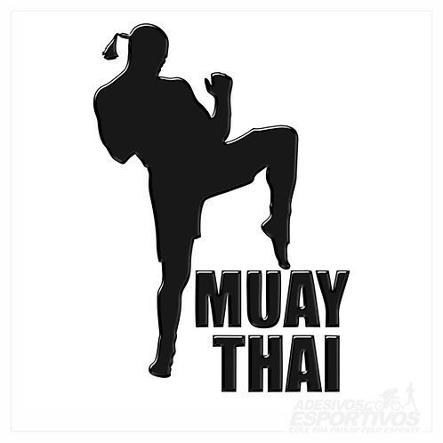 Adesivo Emblema Muay Thai - Masculino