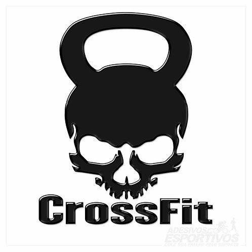 Adesivo Emblema CrossFit Querobel Caveira